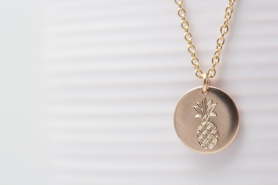 Engraved Pineapple Necklace