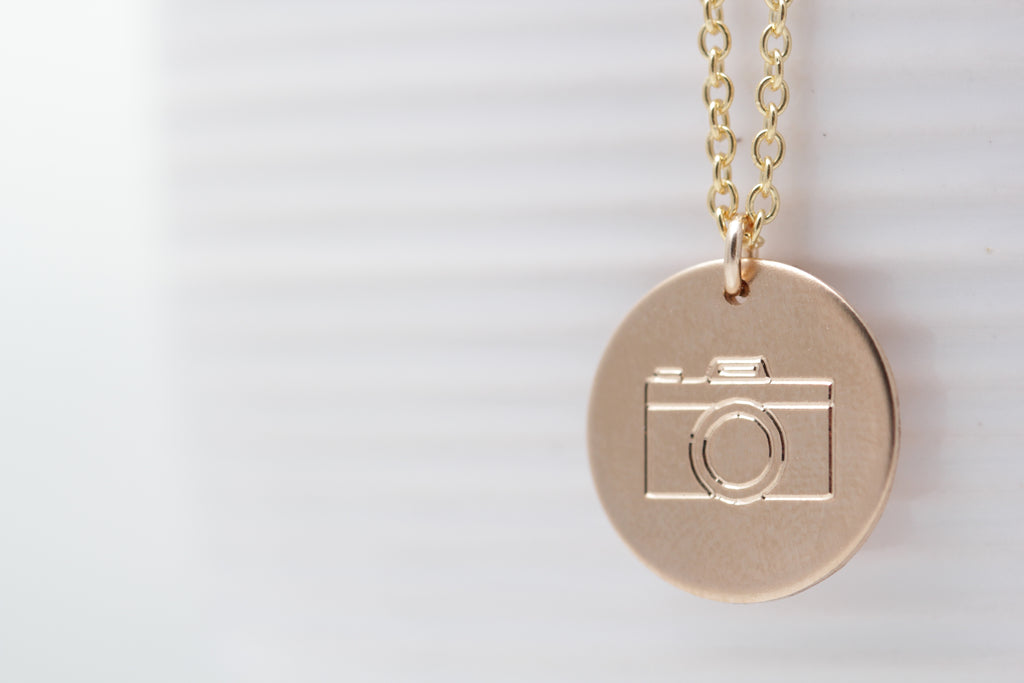 """Say Anything"" Disc Necklace"