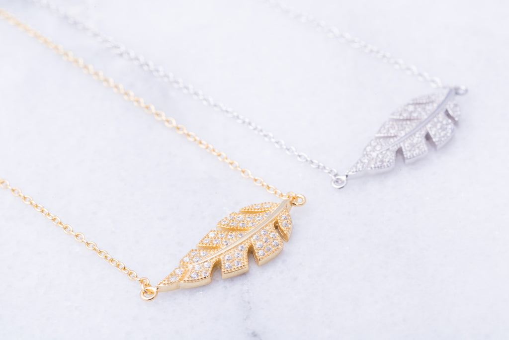 Leaf Crystal Necklace
