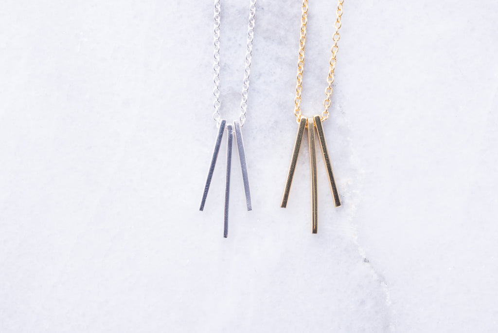 Triple Bar Necklace
