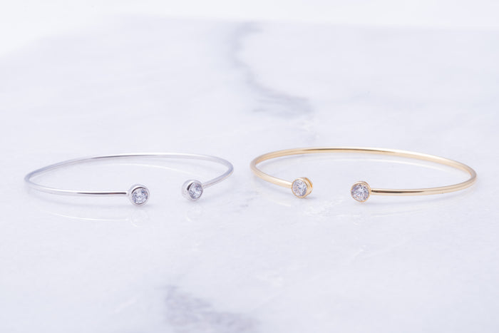 Open Crystal Bangle