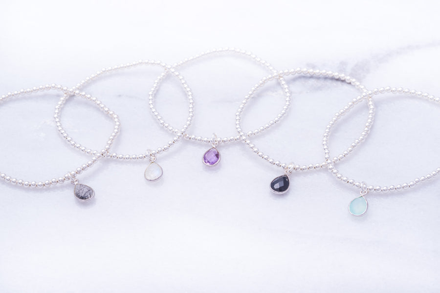Sterling Gemstone Bracelet