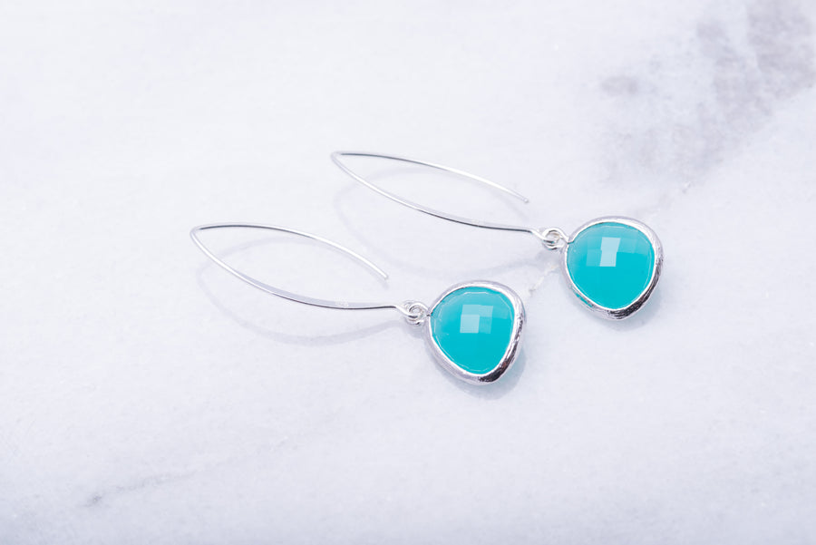 Sterling Marquise Earrings