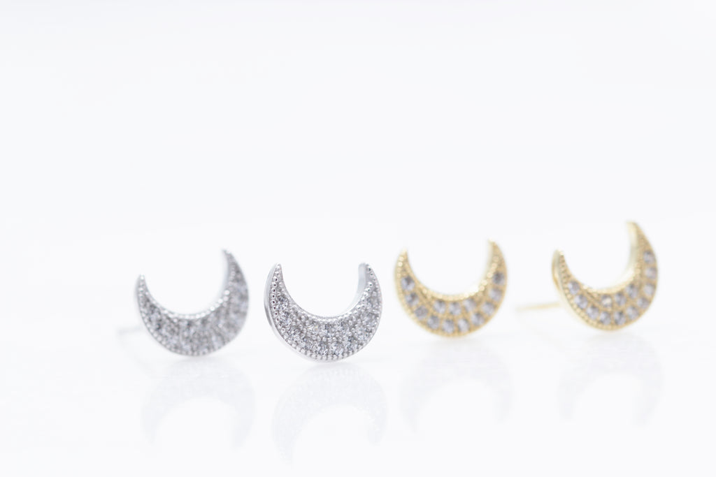 Crystal Moon Studs
