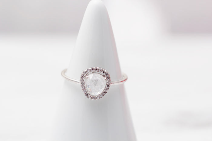 Halo Quartz Ring