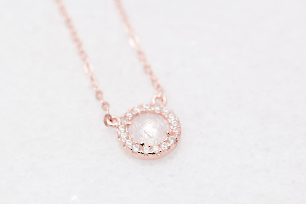 Quartz Halo Necklace