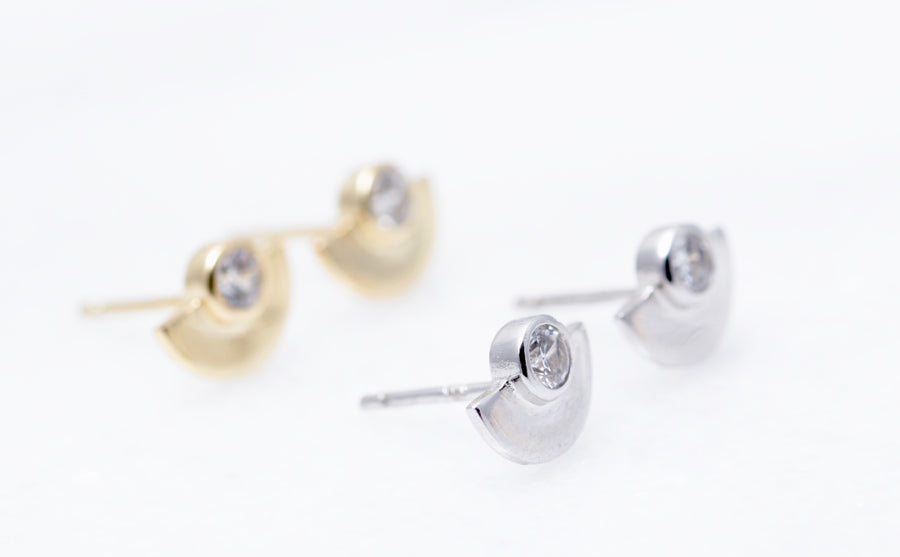 Half Circle Stud Earrings