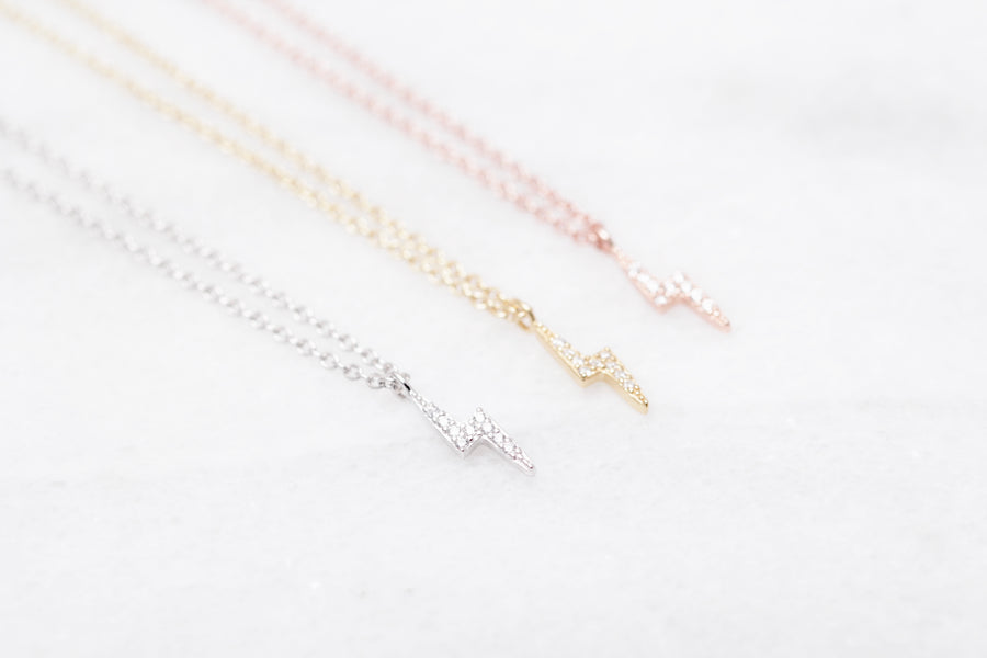 Petite Lighting Bolt Necklace