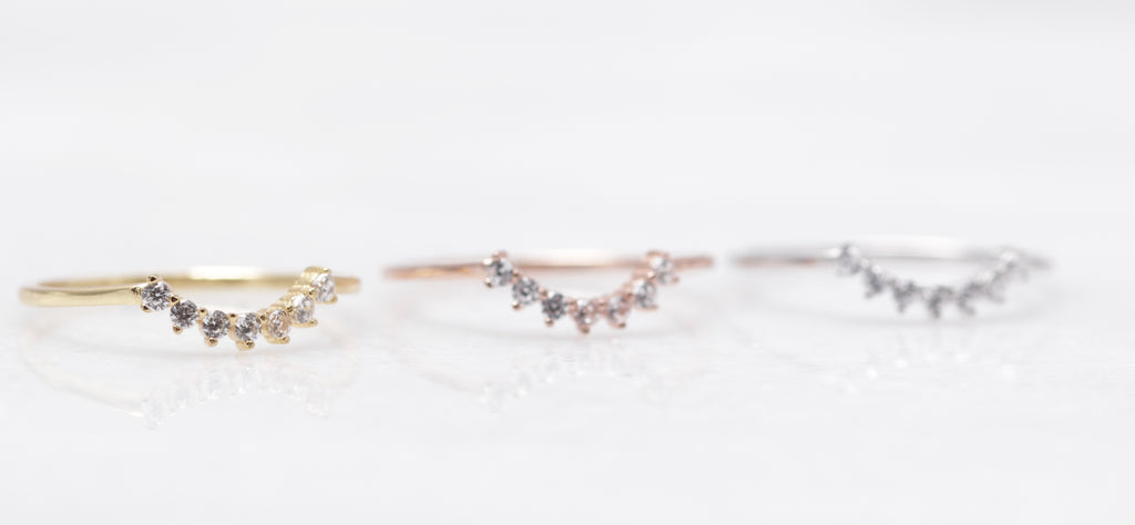 Petite Crystal Arc Ring