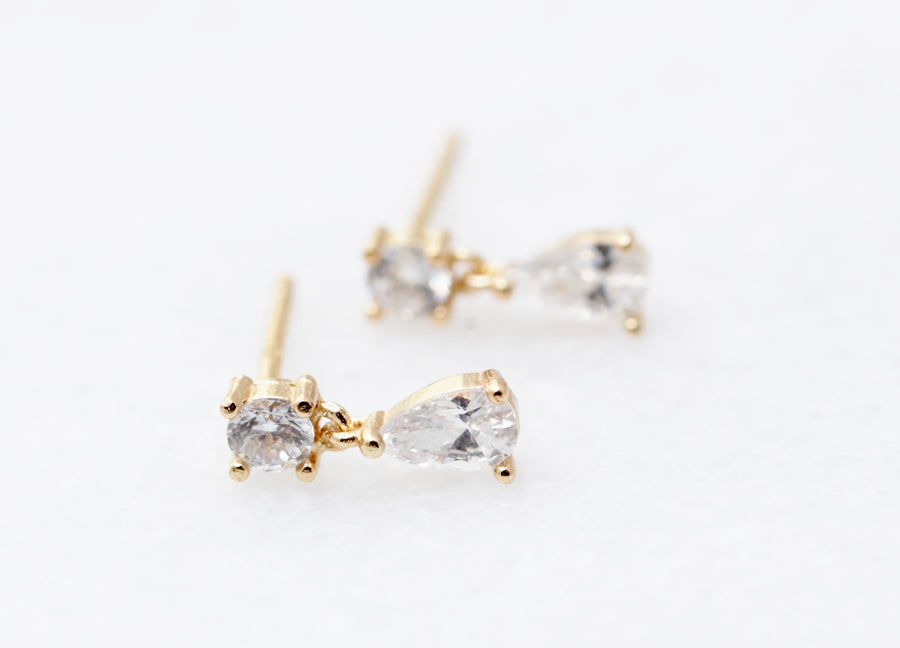 CZ Stud Dangle