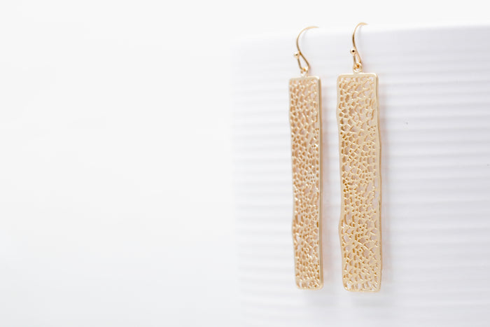 Bamboo Bar Earrings