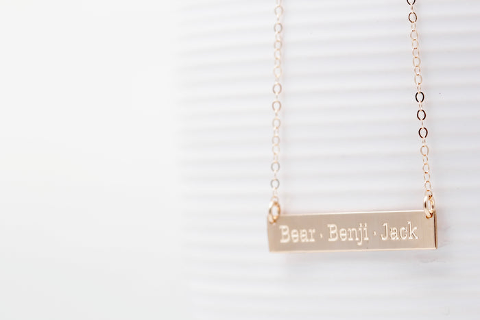 """Say Anything"" Bar Necklace"