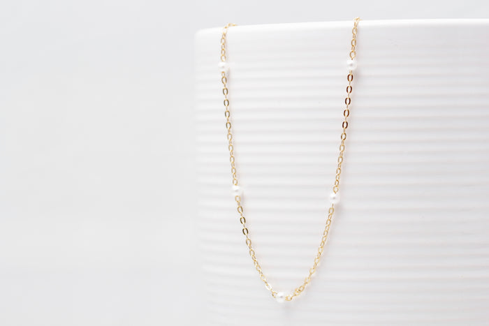 Petite Multi Pearl Necklace