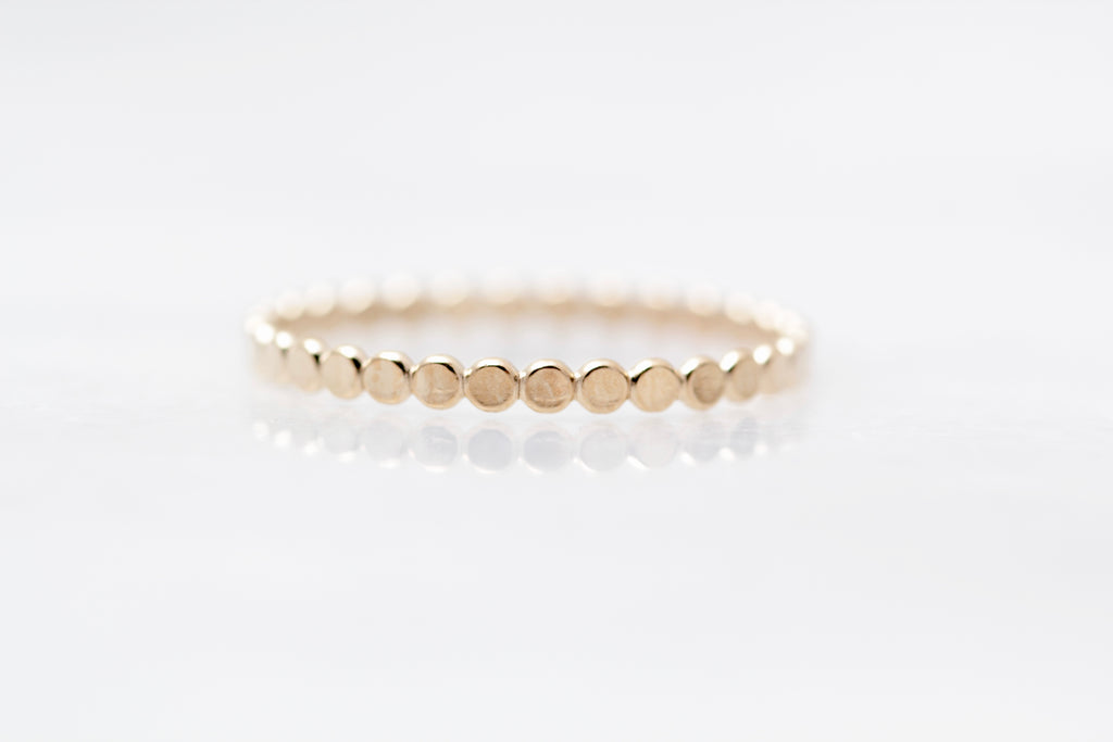 Petite Flat Beaded Ring