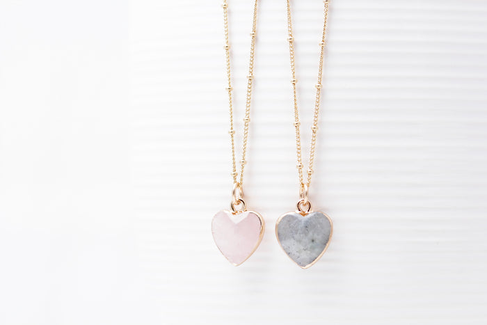 Gemstone Heart Necklaces