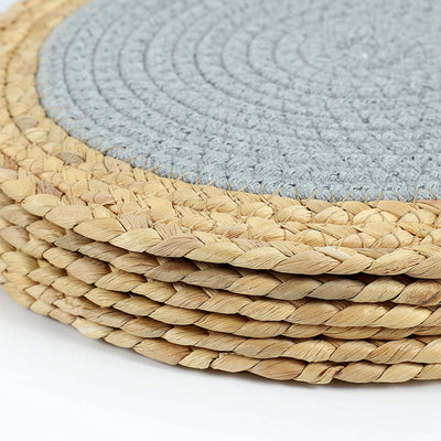 SUEH DESIGN Cotton Pot Mats Handmade Woven of Cotton Coasters Non-Slip Heat Insulation Round Placemats Set of 6, Hot Mats for Cooking and Baking 11.8""