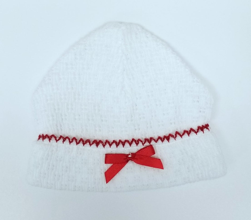 Paty Inc Knit Hat w/ Red Bow