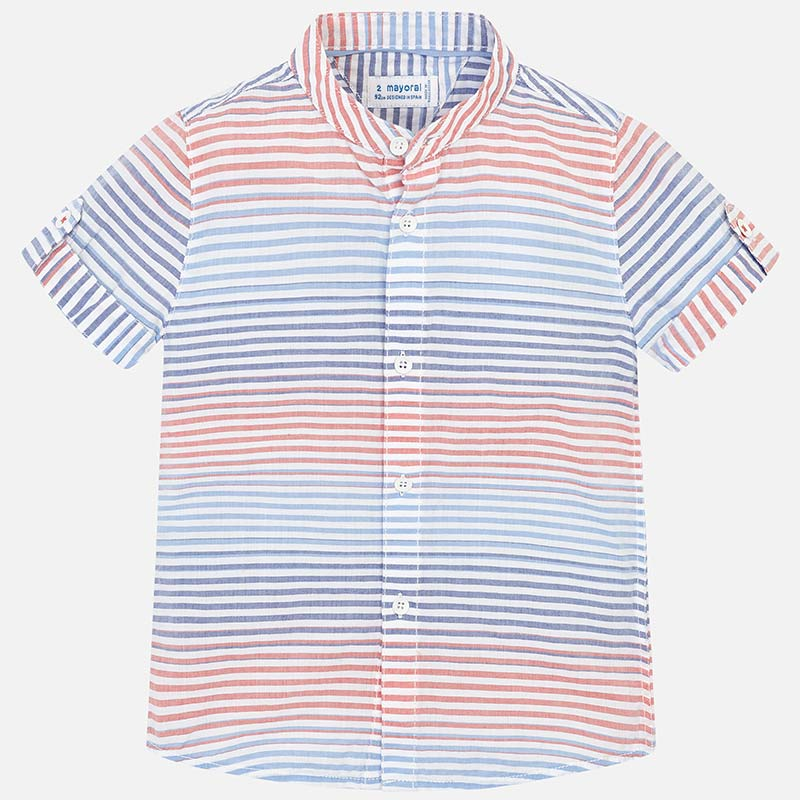 Mayoral Red, White and Blue Stripe Shirt