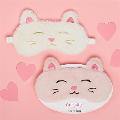 Two's Company Cat Embroidered Eye Cover