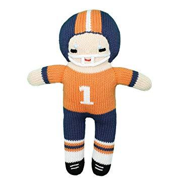 Zubels Navy/Orange Football Player