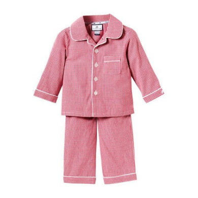 Sweet Dreams Red Gingham PJ -BOY