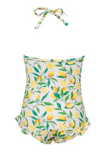 Load image into Gallery viewer, Snapper Rock Lemon Halter Swimsuit