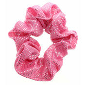 Metallic Pink Dot Scrunchie