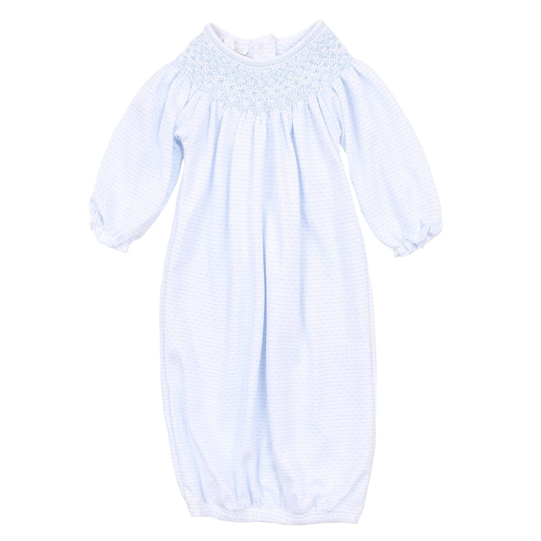 Magnolia Baby Jill and Jacob's Classics Bishop Gown-Light Blue