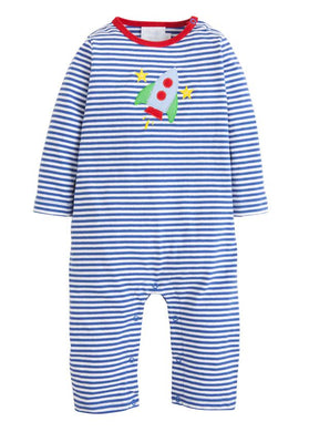 Little English Rocket Applique Romper