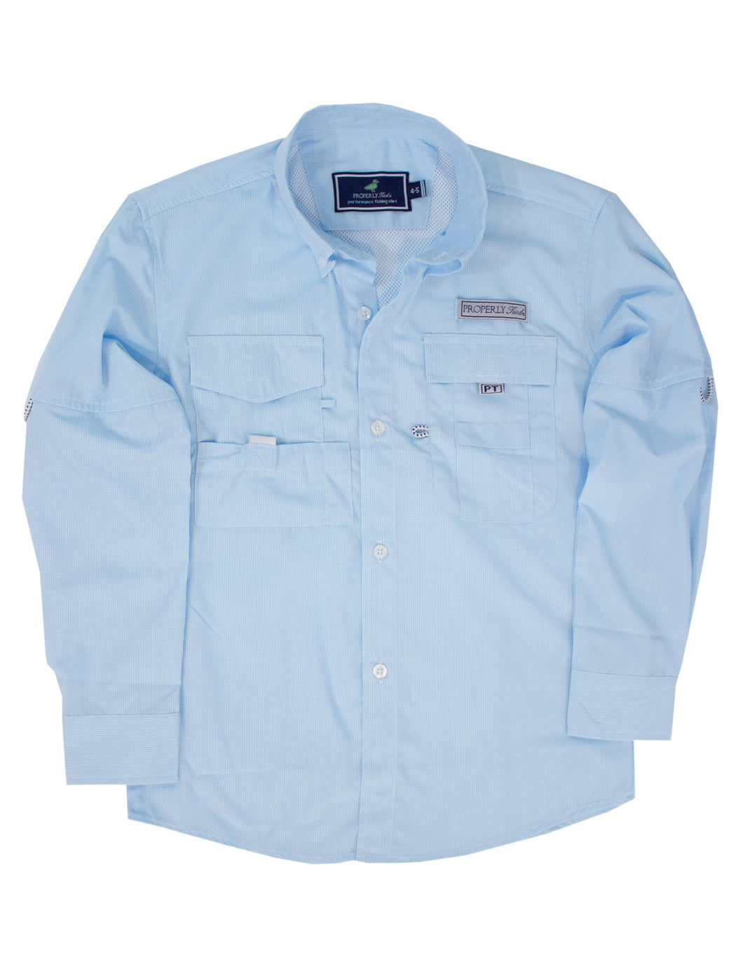 Properly Tied LD Performance Fishing Shirt in Aqua