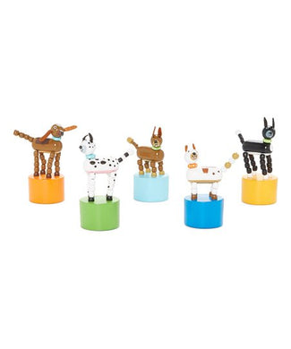 Jack Rabbit Dog Push Puppets
