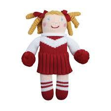 Zubels Maroon/White Cheerleader Doll