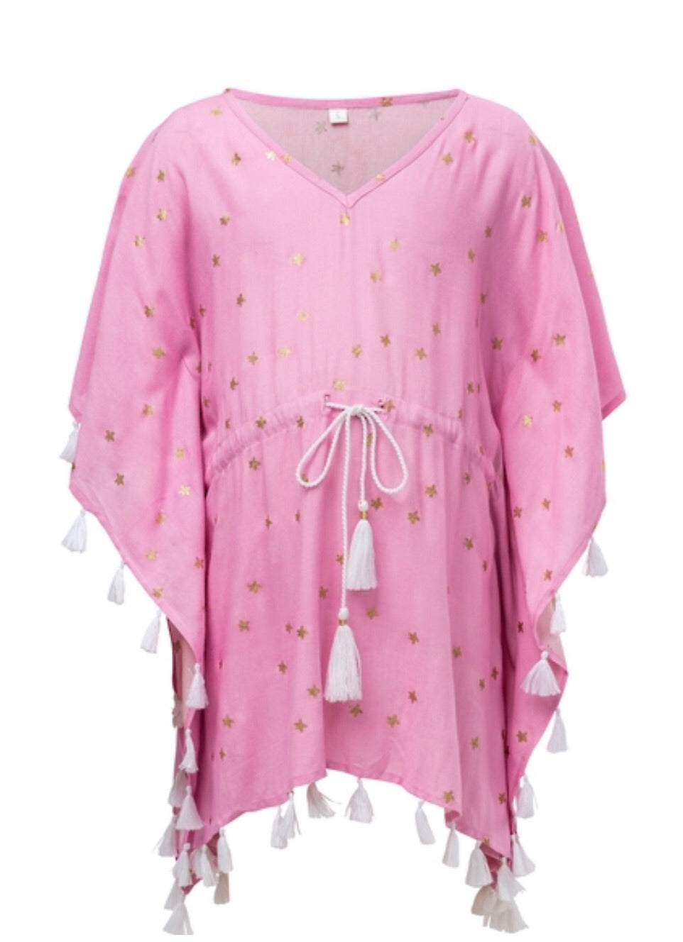 Snapper Rock Pink Gold Star Kaftan