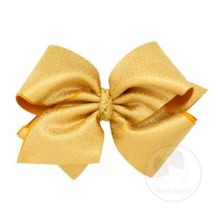 Wee Ones Sparkle Bow in Antique Gold- Large