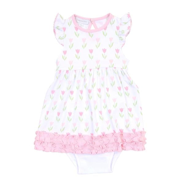 Magnolia Baby Tulips Ruffle Dress Set