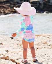 Load image into Gallery viewer, Ruffle Butts Pink Seersucker Swim Hat
