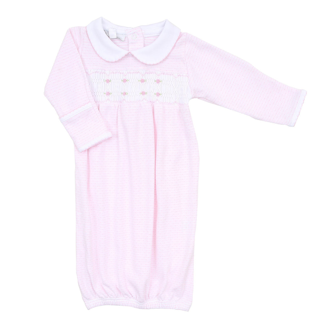 Magnolia Baby Jillian and Jacob's Classics Smocked Gown- Pink