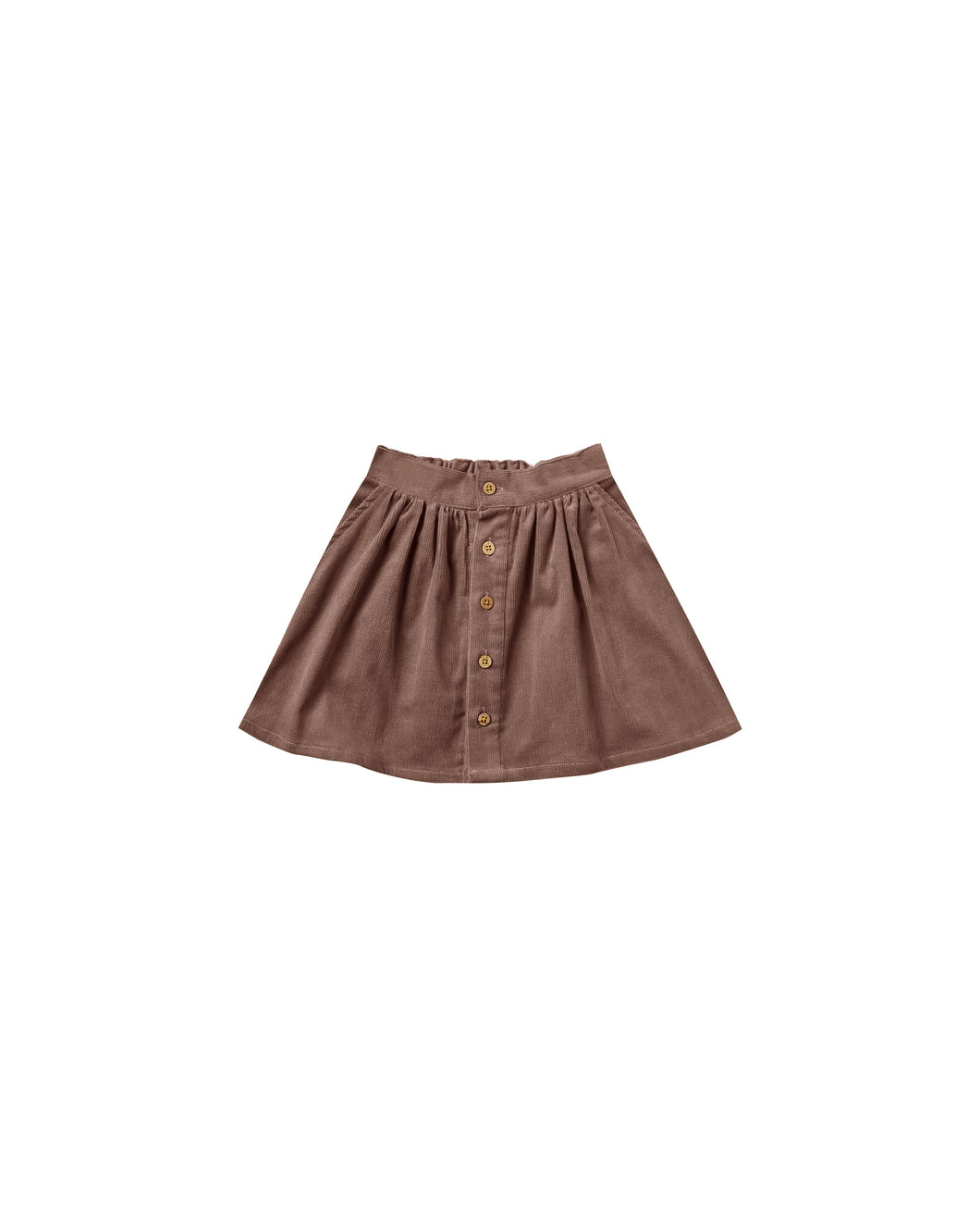 Rylee & Cru Button Front Mini Skirt-Wine