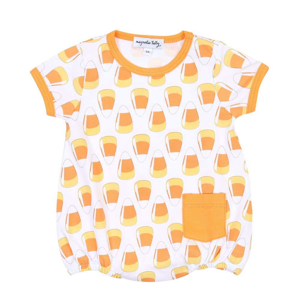 Magnolia Baby Candy Corn S/S Bubble