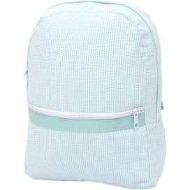 Mint Mint seersucker backpack