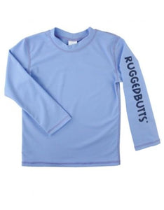 Rugged Butts Cornflower Blue Logo Longsleeve Rashguard
