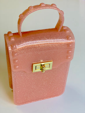 Pink Metallic Glitter Jelly Purse