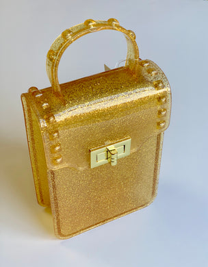Gold Metallic Jelly Purse