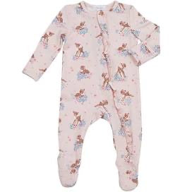 Angel Dear Woodland Deer Ruffle Back Zipper Footie