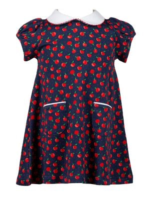 Proper Peony Parkside Knit Archer Apples Dress