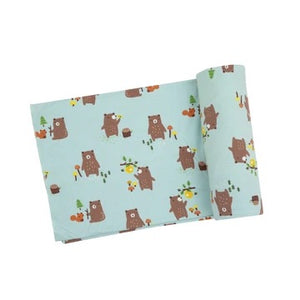 Angel Dear Baby Bears Swaddle Blanket