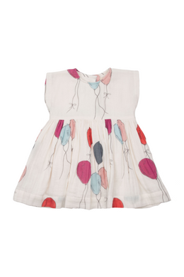 Pink Chicken Baby Adaline Dress - multi balloons