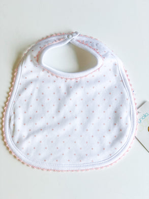 Magnolia Baby Crochet Collection Dot Bib- Pink