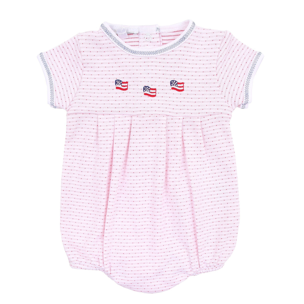 Magnolia Baby Stars and Stripes Embroidered Bubble