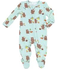Angel Dear Baby Bears Zipped Footie